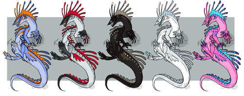 Leviathan Adoptables [SOLD OUT] by KeaveMind