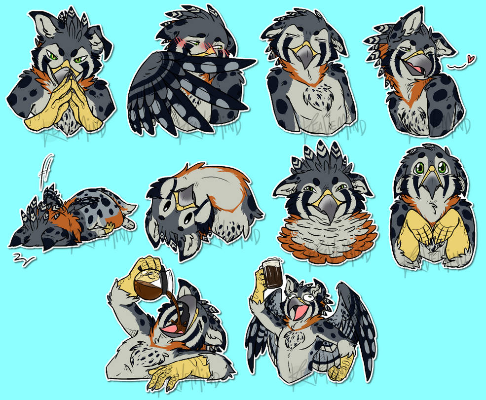 C - Sibek Sticker Batch by KeaveMind on DeviantArt