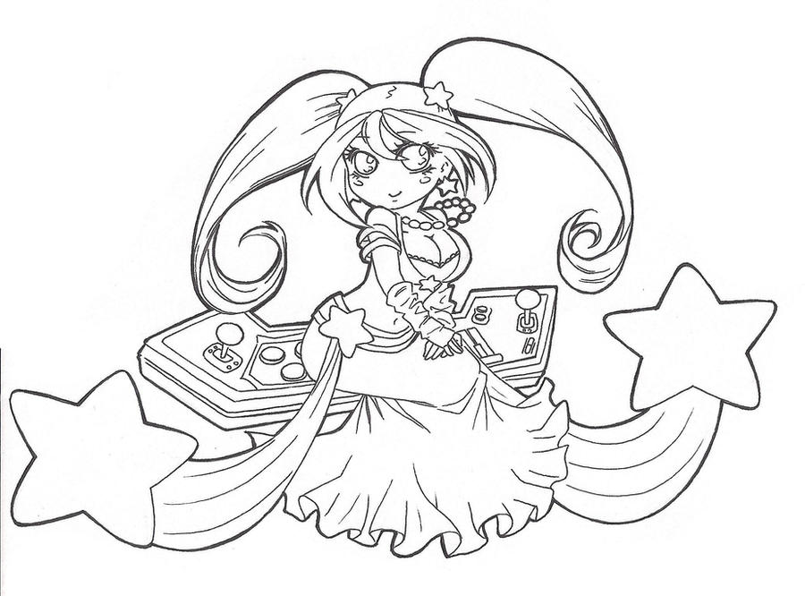 Coloring Pages Disney Lol : Sona arcade lineart by spigarose on deviantart