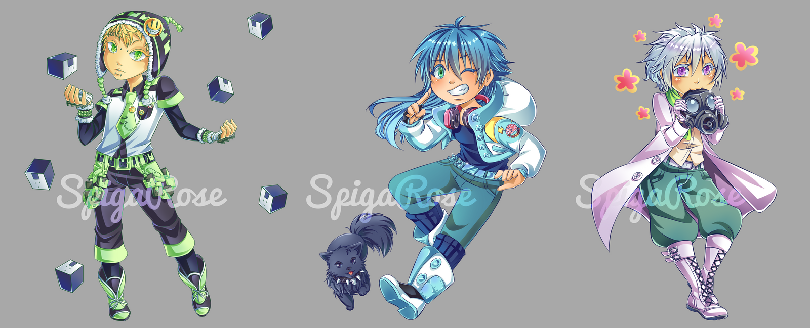 [DMMD] Aoba Noiz Clear chibi batch by SpigaRose