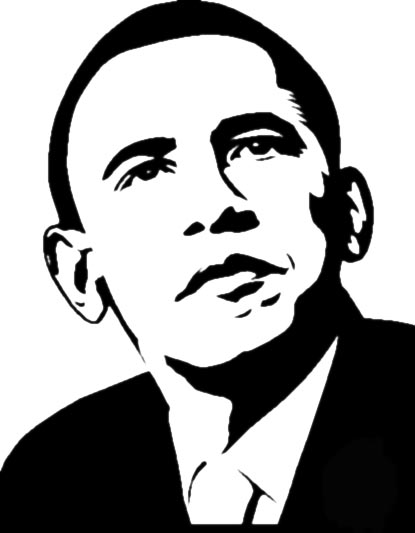 obama stencil by imap1rate on deviantart