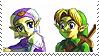 Young Link x Zelda by bubblymilktea