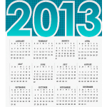 Vector Calendar for 2013 by cristina012