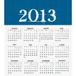 Vector Calendar for 2013 by cristina012