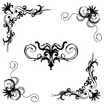Floral vector set 150 by cristina012