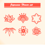 Japanese floral vector set 2 by cristina012
