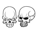 Vector Skulls set 20 by cristina012