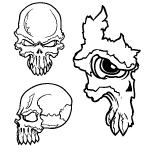 Skulls vector set 21 by cristina012