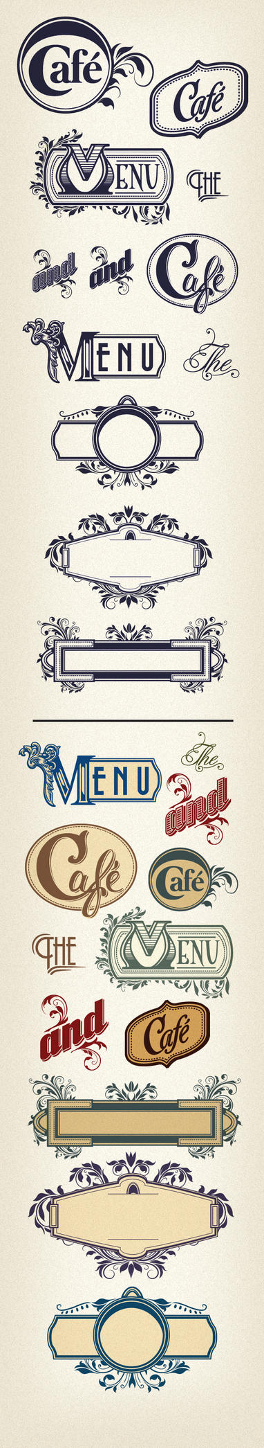 Free Vector Menu Headpieces by cristina012
