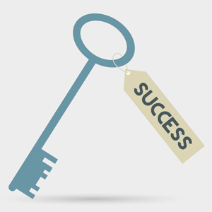 Free Vector of the Day 270: Key To Success Concept by cristina012