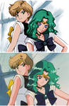 Haruka and Michiru #redraw