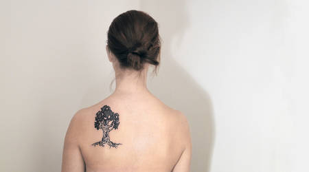 Tree dotwork tattoo by sHavYpus