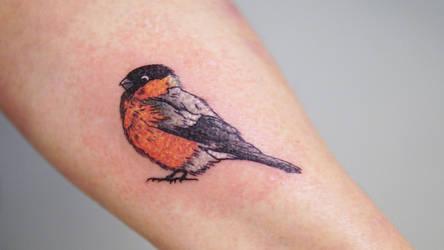Bird dotwork tattoo by sHavYpus