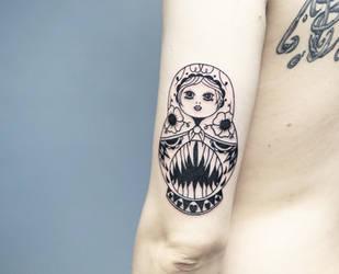 Matryoshka tattoo by sHavYpus