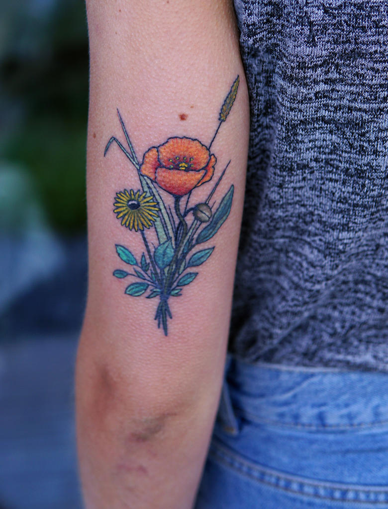 Flower Bouquet Tattoo by sHavYpus on DeviantArt