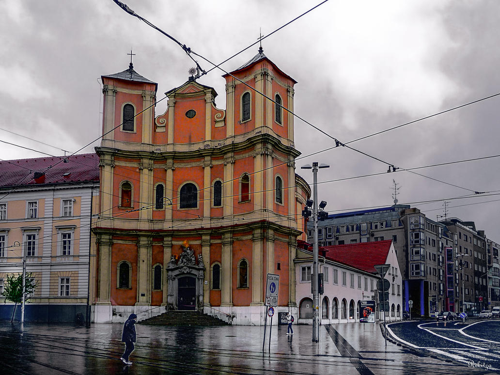 Church in central Bratislava - revisited by Rikitza