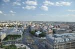 Magritte sky - Bucharest morning