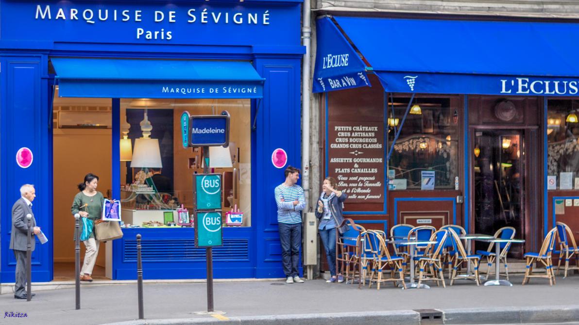 Paris in blue - update by Rikitza