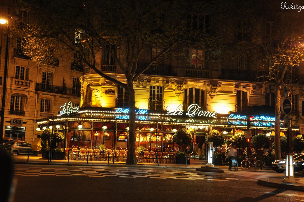 Paris by night - Cafe du Dome - Montparnasse by Rikitza