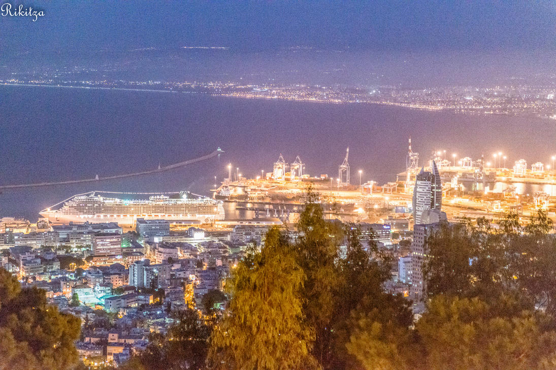 Haifa - view from the Carmel mount by Rikitza