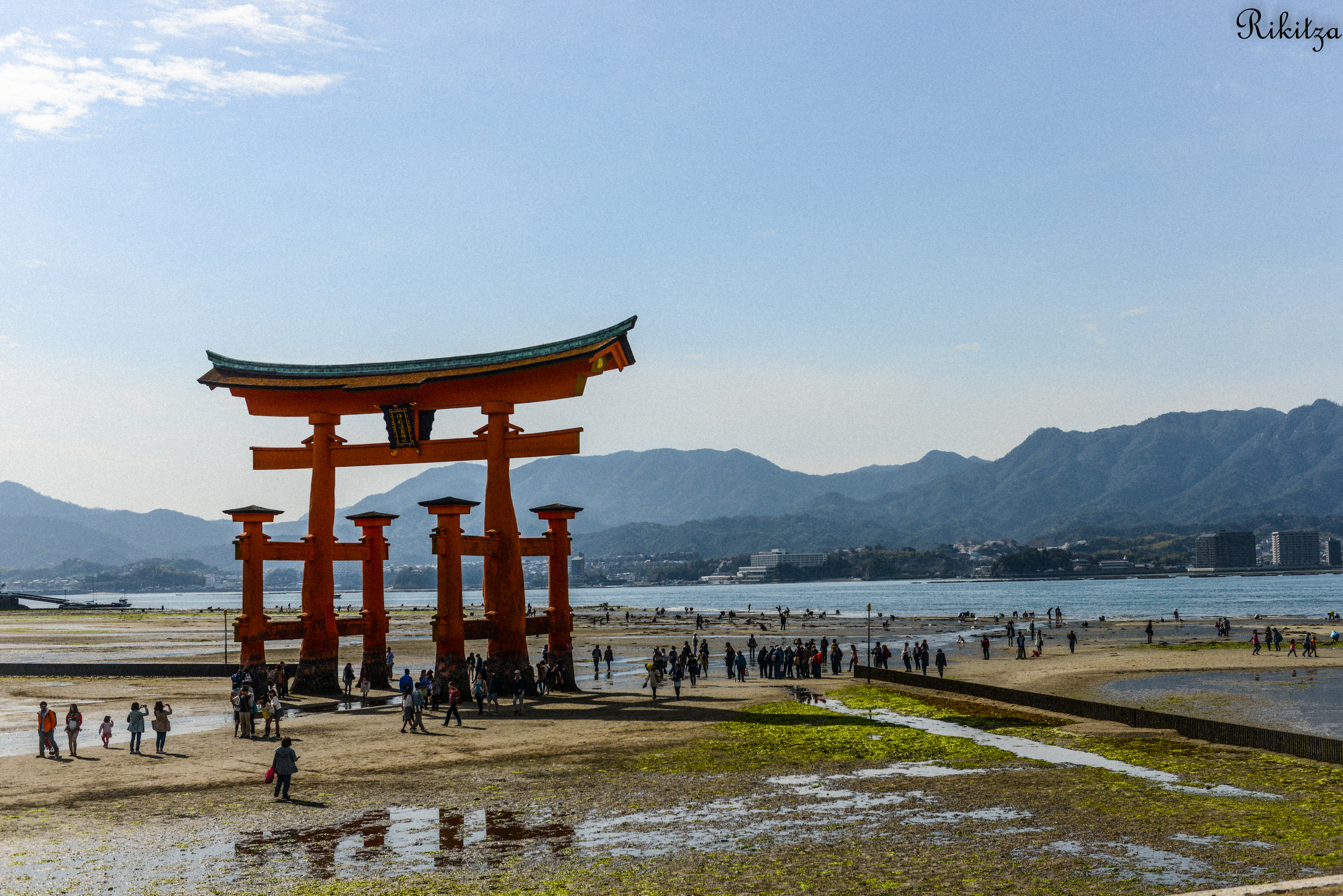 floating torii gate - Miyajima under reflux by Rikitza