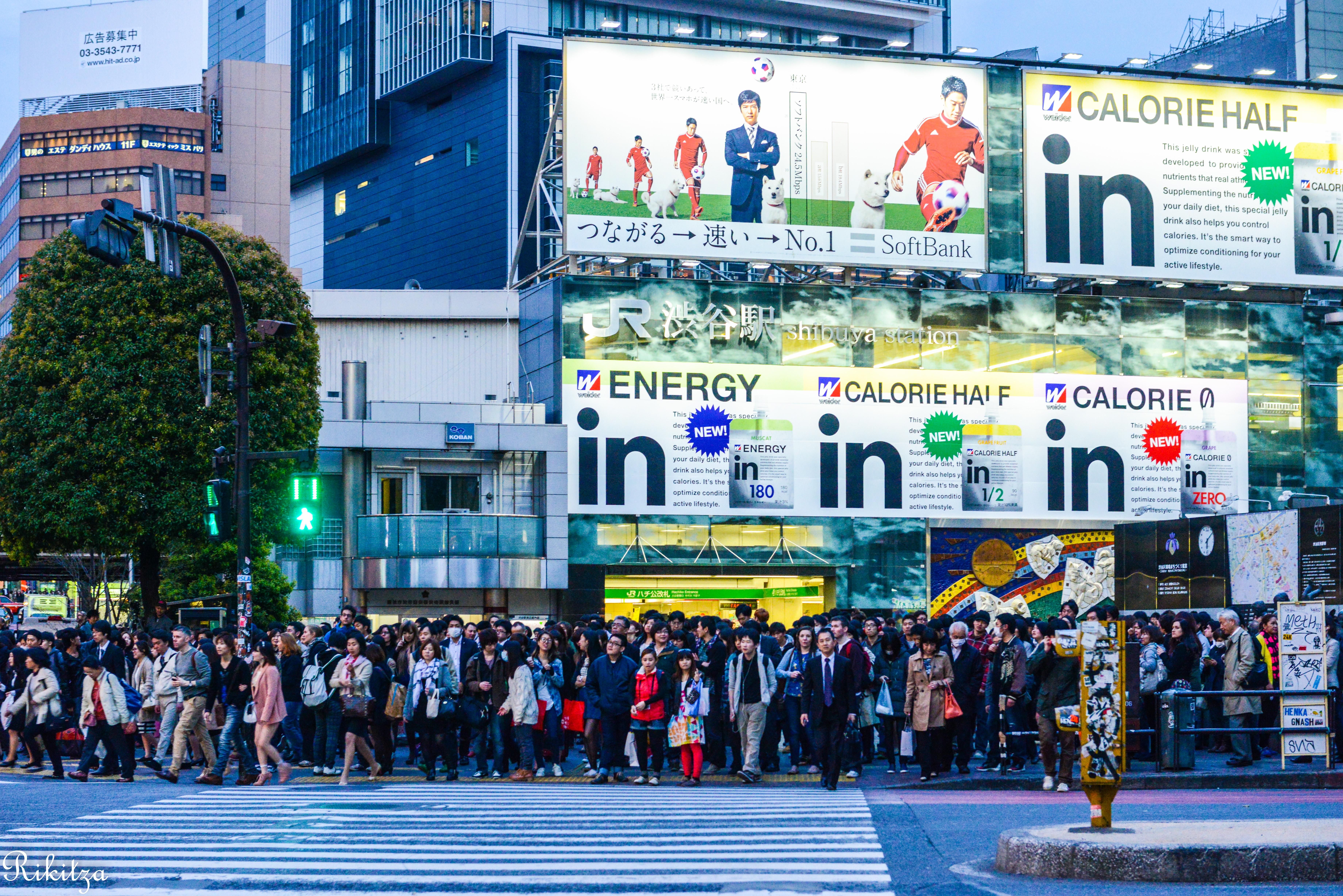 zebra crossing in Tokyo by Rikitza