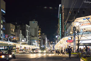 Evening in Kyoto by Rikitza