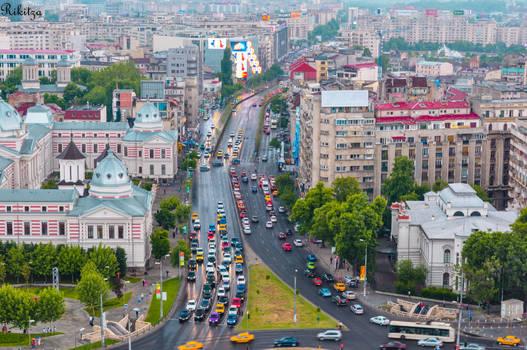 Bucharest in a rainy day