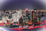 Colors in the night at Osaka by Rikitza