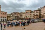rainy day over Siena - Piazza del Campo