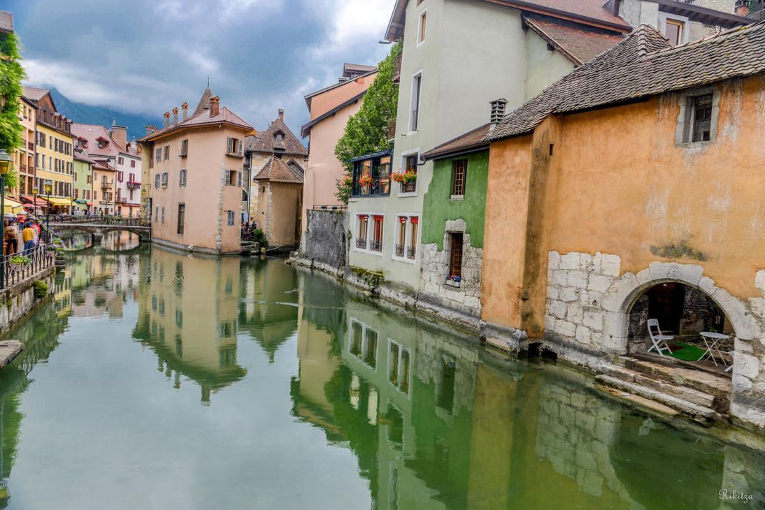Reflections in Annecy - dedicated to Tomi Pajunen by Rikitza