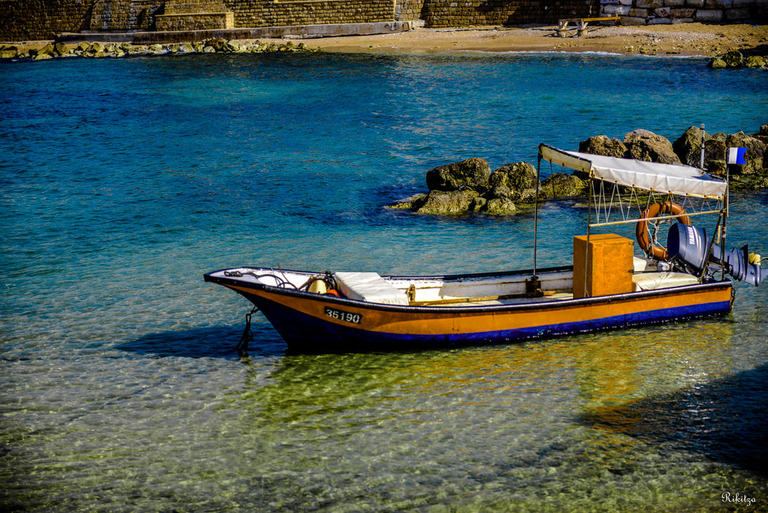Boat at Caesarea - dedicated to my friend Lior by Rikitza