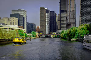 Chicago river by Rikitza