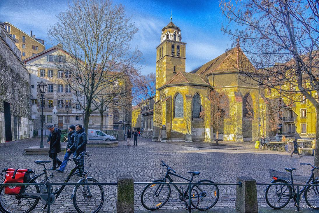 Square in Geneva by Rikitza