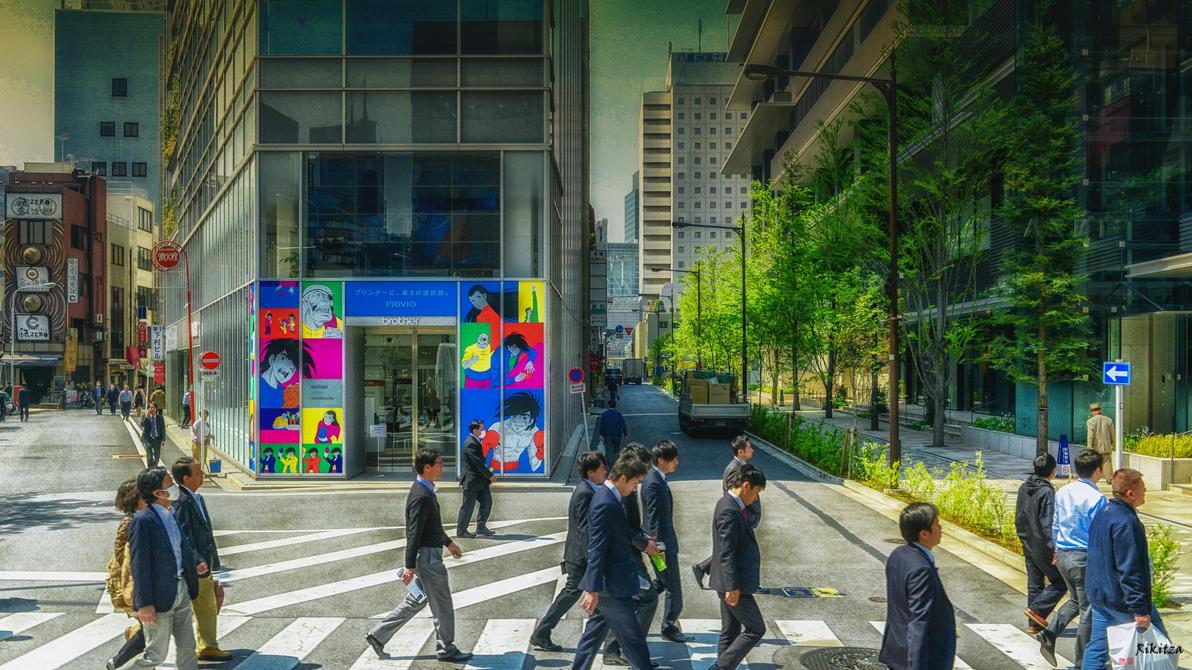 working people in Tokyo by Rikitza