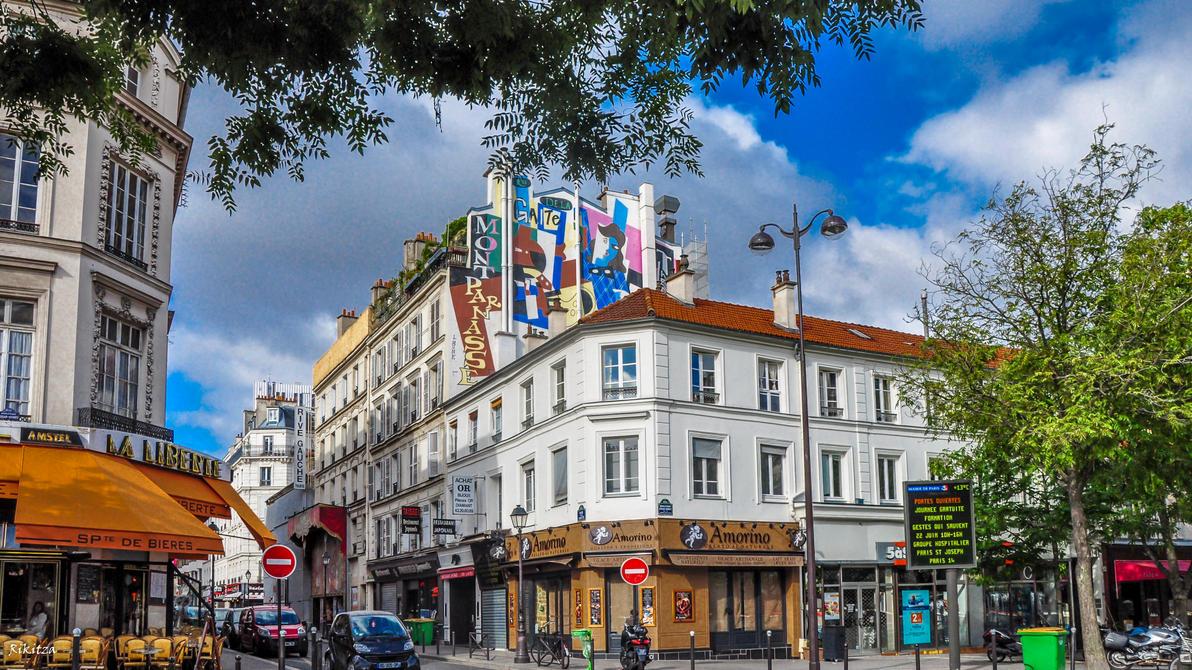 Under the Montparnasse sky by Rikitza