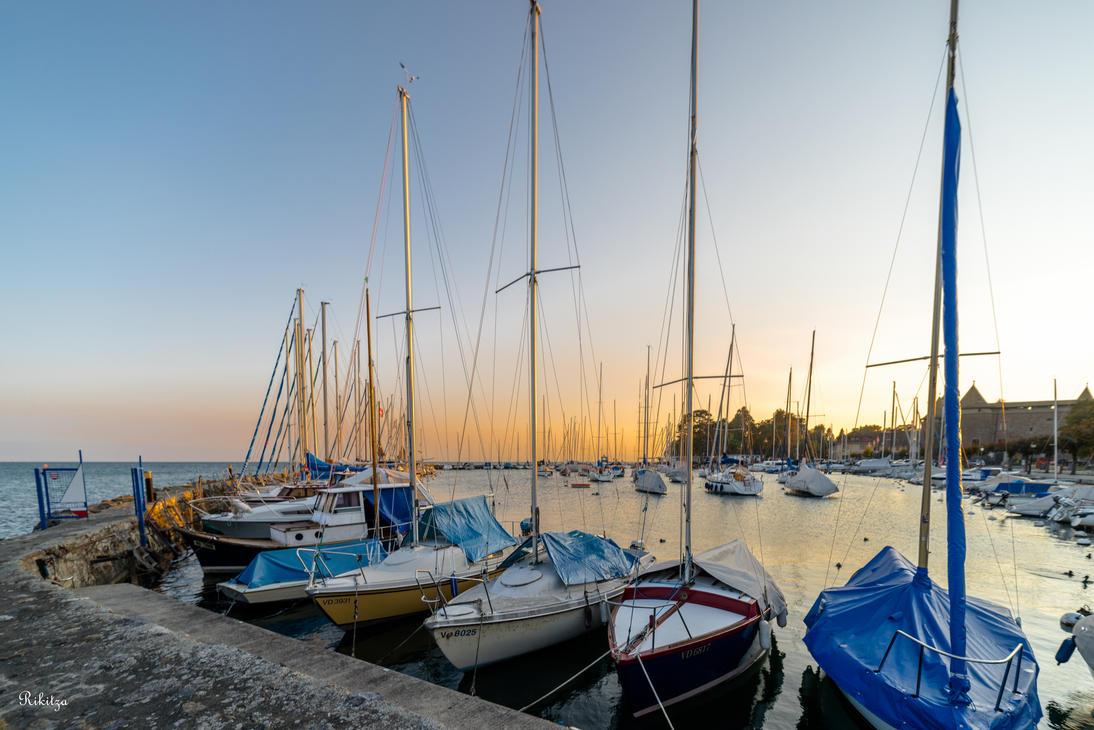 Masts at Morges by Rikitza