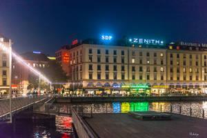 colors in the Geneva night by Rikitza