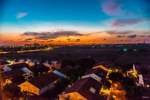 Sunset from my balcony by Rikitza