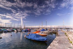 boats in Geneva by Rikitza