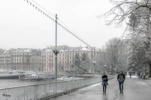 Winter Lake Promenade by Rikitza