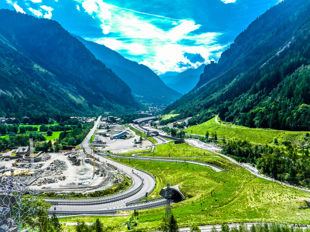 Mont Blanc tunnel entry by Rikitza