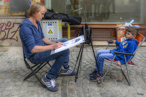 Portraiting in Bucharest by Rikitza