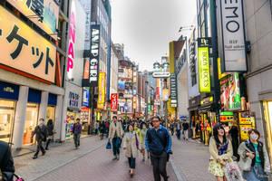 pedestrians in Tokyo by Rikitza