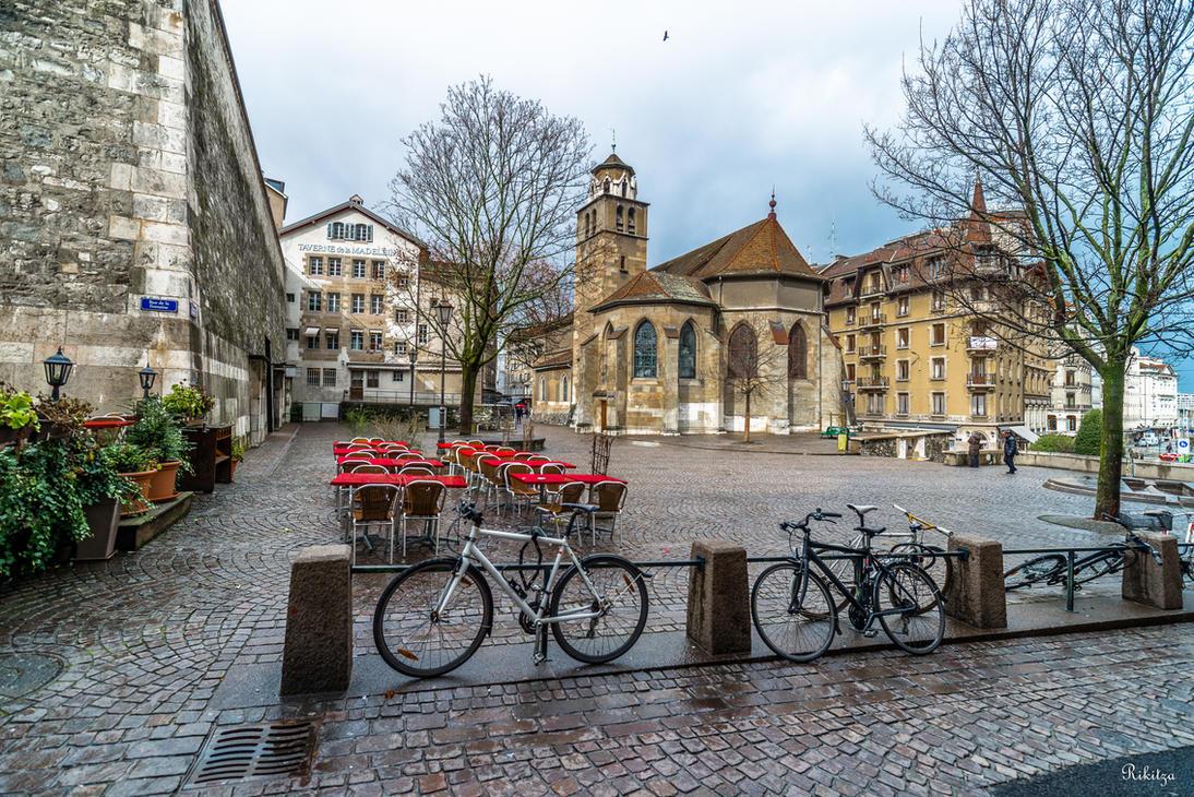 Old City Bike Parking Lot by Rikitza