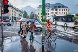 It rains in Innsbruck by Rikitza