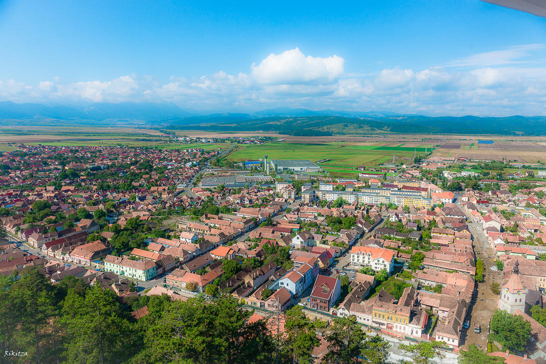 aerial view in Romania by Rikitza