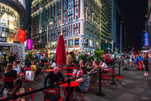 evening colors in NYC by Rikitza