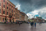 cloudy morning in Warsaw