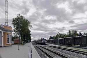 Train station in Estonia by Rikitza